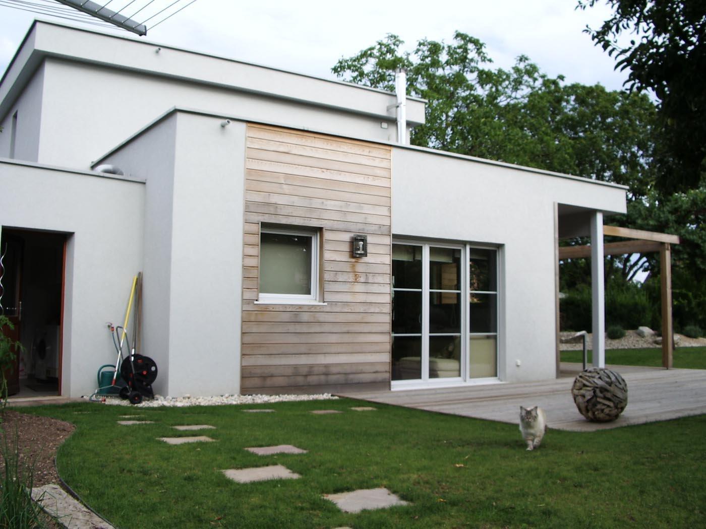 Maison contemporaine cubique for Maison moderne cubique