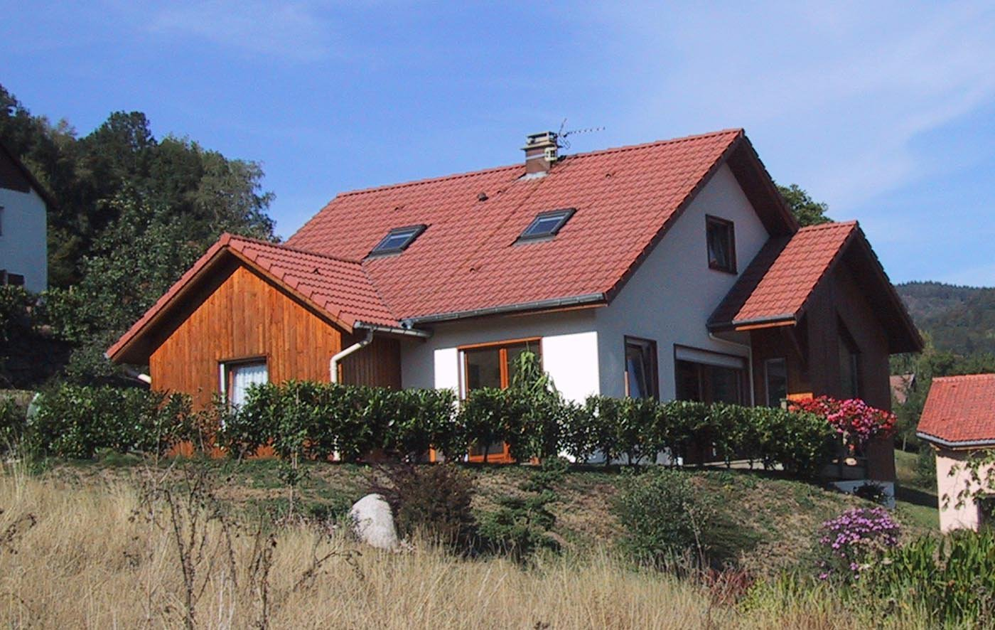 Maison structure bois d cor bois et enduit maison for Maison structure bois