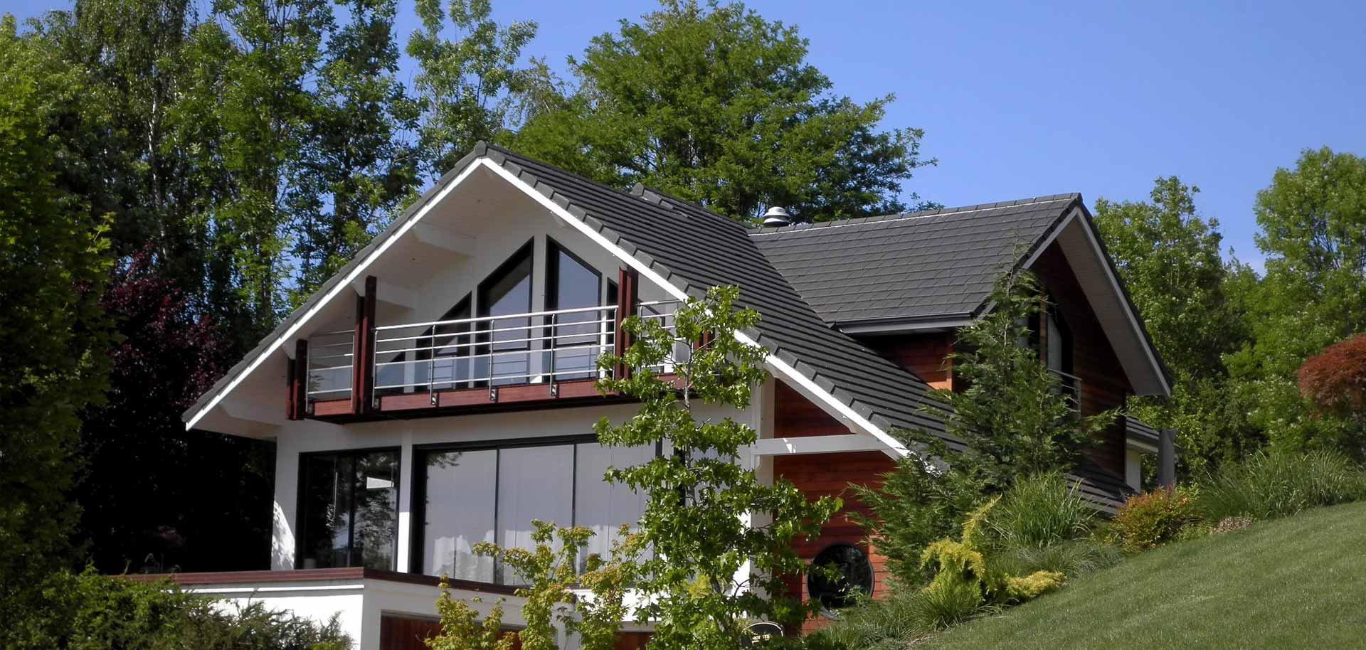Souvent Maison bois contemporaine, bardage bois - Maison bois contemporaine, JT92