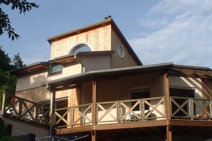 Maison moderne bardage ossature bois maison moderne bardage for Bardage fundermax ossature bois